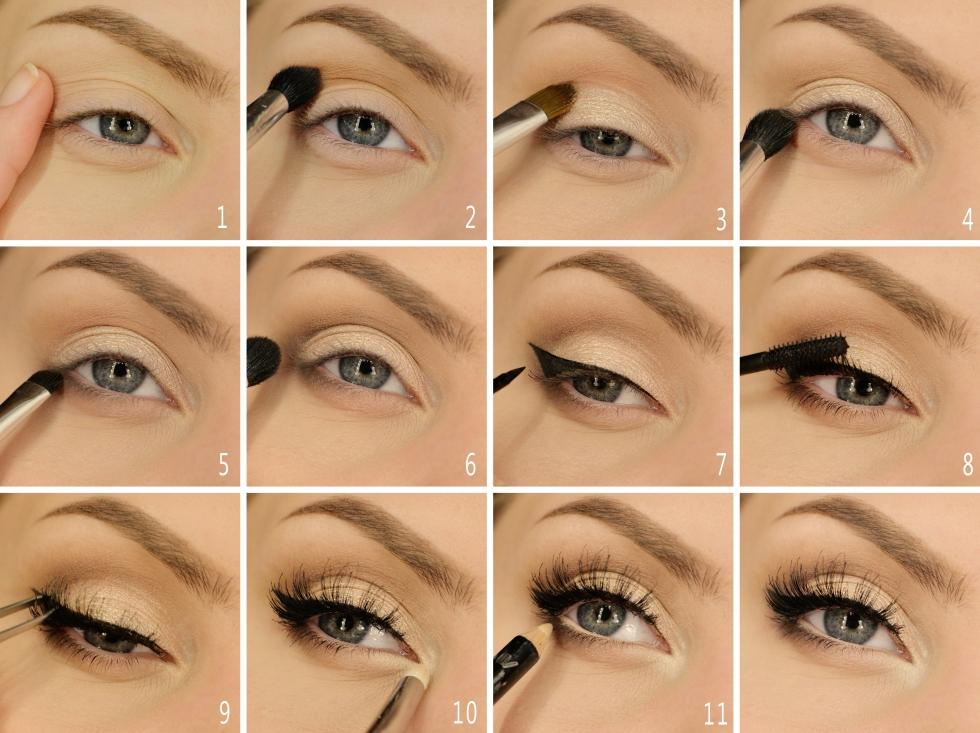mascara under ögonen