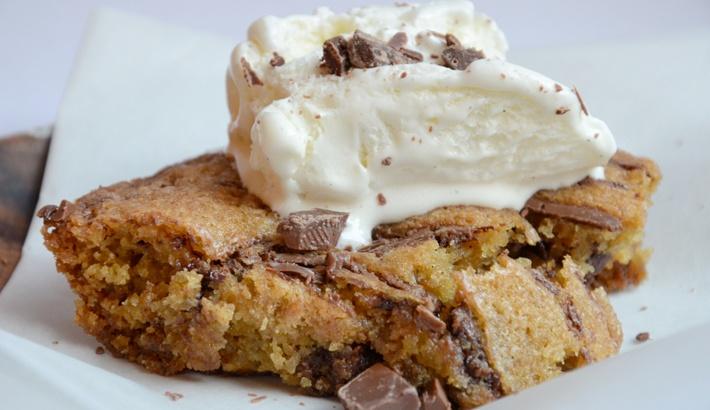 jätte cookie recept