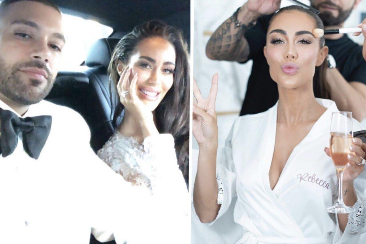 Rebecca Stella har gift sig – i en brudklänning med 80 000 kristaller!