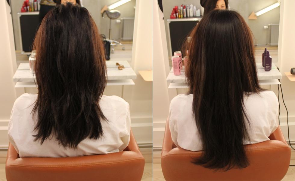 sätta i löshår hos frisör