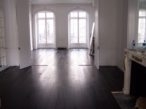 Black Wooden Floors Painted
