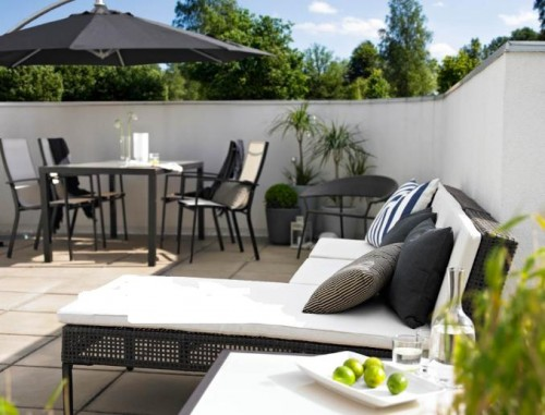 inreda terrass och balkong. Black Bedroom Furniture Sets. Home Design Ideas