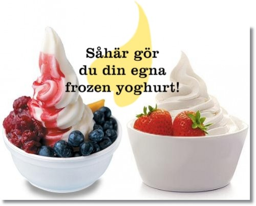 gör din egen frozen yogurt