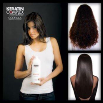 rakt hår med keratin