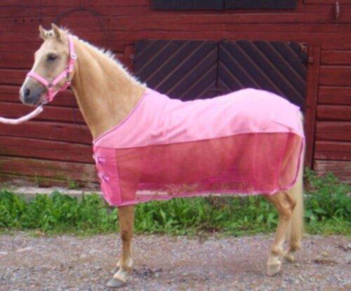 rosa täcke häst