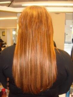 hårförlängning kort hår