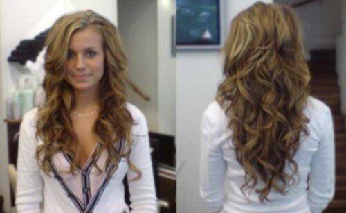 permanenta håret stora lockar