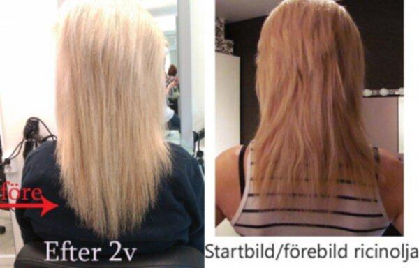 ricinolja hår användning