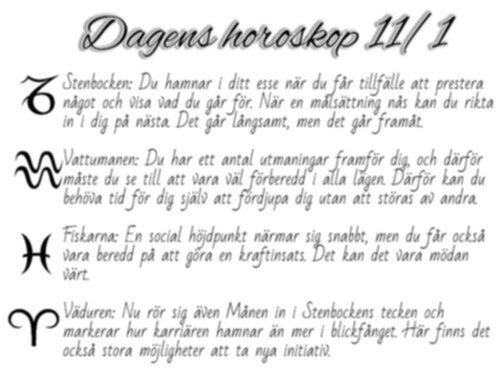 dagen horoskop