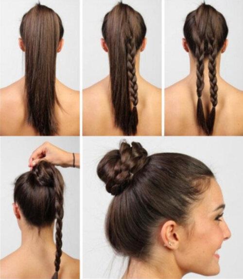lätta uppsättningar långt hår