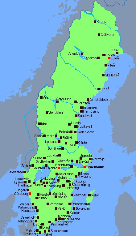 sveriges städer karta Coor at NCC sveriges städer karta